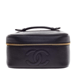 Chanel CC Cosmetic Case Caviar Small