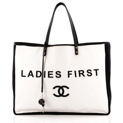 Chanel Ladies First Whistle Tote Canvas Large