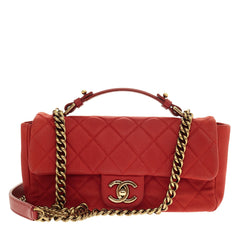 Chanel Chic Handle Flap Bag Quilted Caviar Small