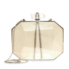 Marchesa Iris Python Box Clutch