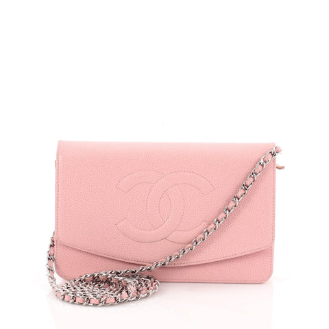 f3c6ca5a6eb5 Buy Chanel Timeless Wallet on Chain Caviar Pink 687503 – Rebag