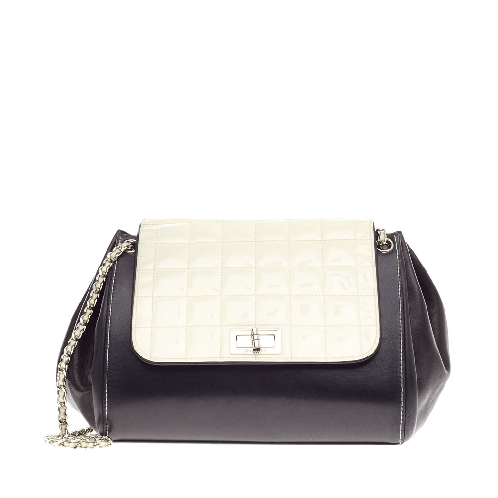 84cb2aa00fde Buy Chanel Chocolate Bar Accordion Flap Bag Reissue Leather 69603 ...