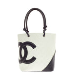 Chanel Cambon Tote Quilted Leather Small