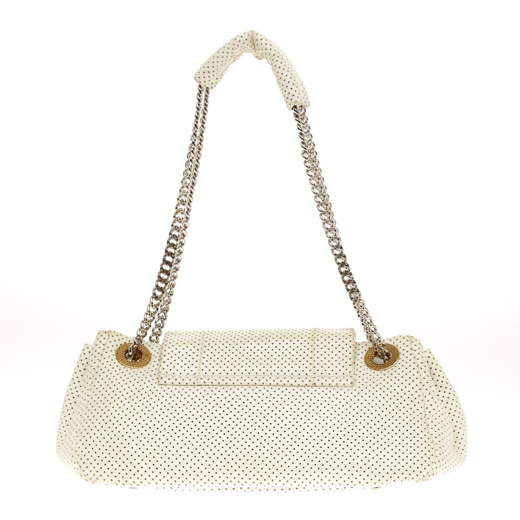 6359e98089cd Buy Chanel Accordion Flap Bag Perforated Leather Classic White 69701 ...