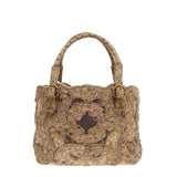 Bottega Veneta Embroidered Cabat Snakeskin Studded Tote