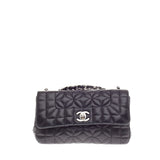 Chanel CC Flap Flower Geometric Quilt Small