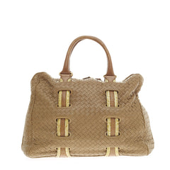 Bottega Veneta Accordion Satchel Intrecciato Nappa Large