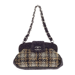 Chanel Chain Top Frame Tweed Satchel