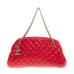 Chanel Just Mademoiselle Quilted Leather Medium