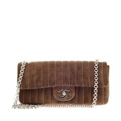 Chanel Mademoiselle Vertical Suede Small
