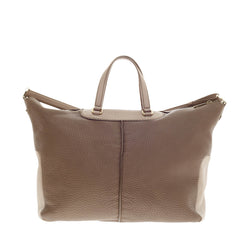 Tod's Miky Bauletto Grained Leather Satchel