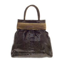 Nancy Gonzalez Top Handle Python Frame Bag