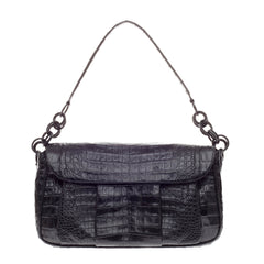 Nancy Gonzalez Flap Pocket Bag Crocodile