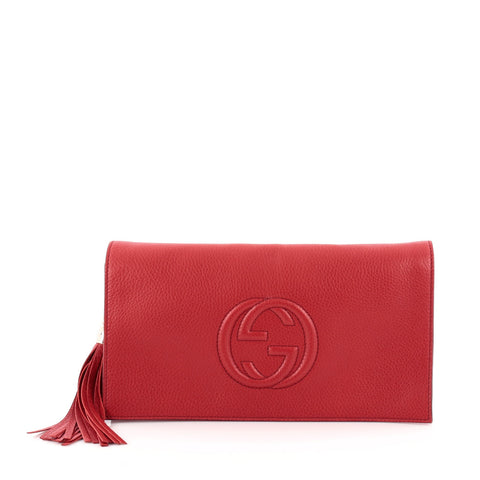 6e4945ae1b5 Buy Gucci Soho Clutch Leather Red 875401 – Rebag