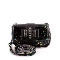 Christian Louboutin Sweet Charity Crossbody Iridescent Patent Small