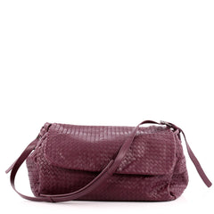 Bottega Veneta Flap Messenger Bag Intrecciato Nappa Large