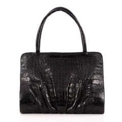 Nancy Gonzalez Bar Frame Shoulder Bag Crocodile Medium
