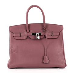 Hermes Birkin Pink Fjord with Palladium Hardware 35