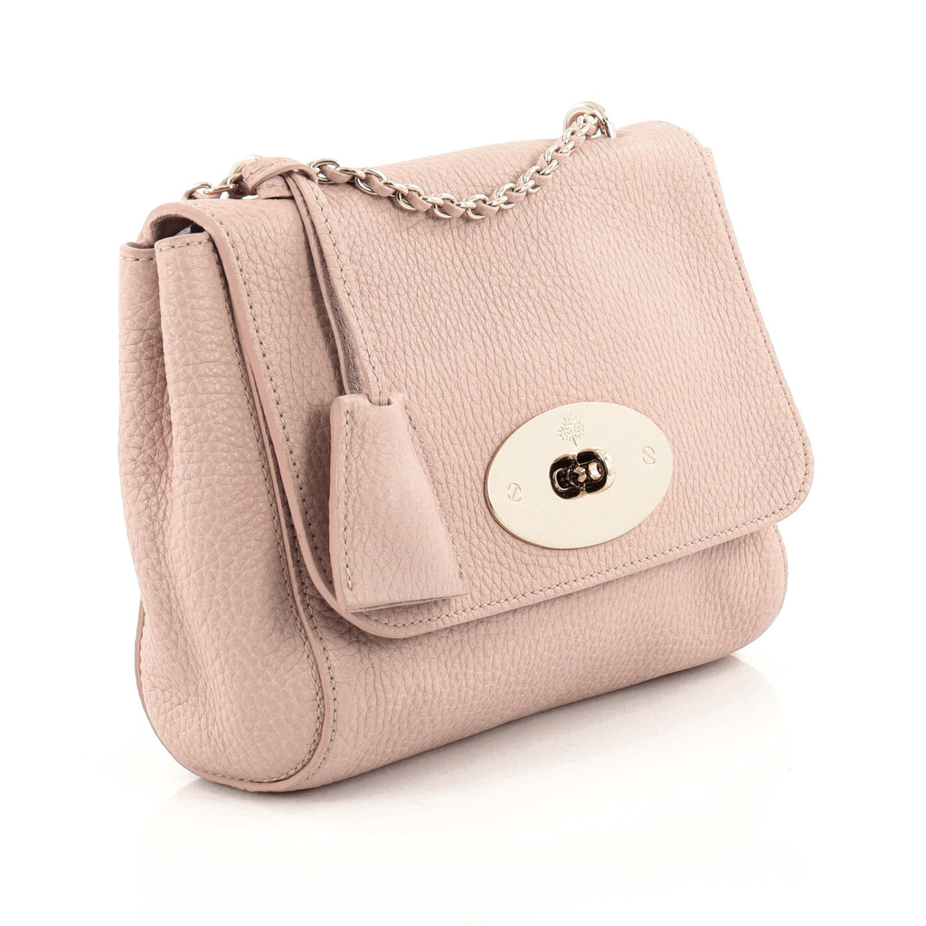 0957d161e0 Buy Mulberry Lily Chain Flap Bag Leather Small Pink 963401 – Rebag