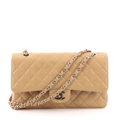Chanel Vintage Classic Double Flap Quilted Caviar Medium