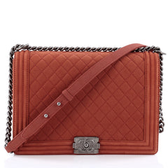 Chanel Boy Flap Quilted Matte Caviar Large