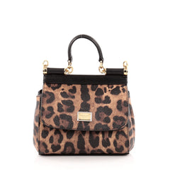 Dolce & Gabbana Miss Sicily Leopard Print Leather Mini