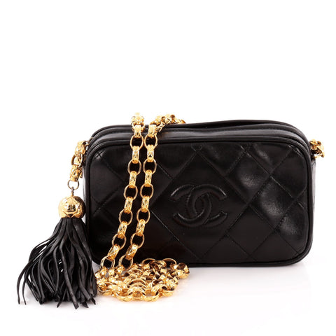 1cc06556584a Buy Chanel Vintage Diamond CC Camera Bag Quilted Leather Mini 974401 – Rebag