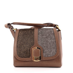 Fendi Anna Flap Bag Stingray and Leather