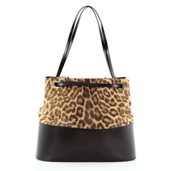 Salvatore Ferragamo Bucket Tote Pony Hair and Leather Large