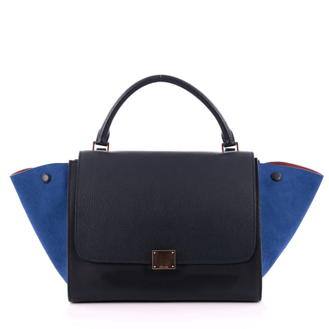 a66c2784dd75 Buy Celine Bicolor Trapeze Handbag Leather Medium Blue 988701 – Rebag