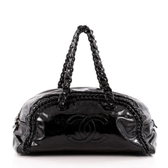 Chanel Resin Luxe Ligne Bowler Patent Large