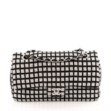 Chanel Classic Single Flap Printed Canvas with Ribbon Tweed Medium