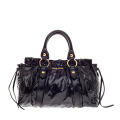 Miu Miu East West Satchel Patent Medium