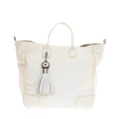 Versace Tassel Tote Leather
