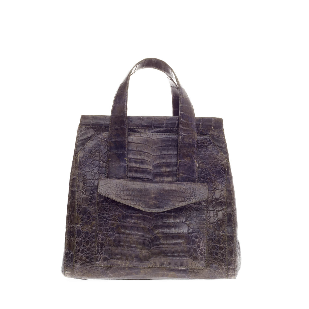 Buy nancy gonzalez tote crocodile medium black 107502 for Nancy gonzalez crocodile tote