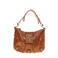 Valentino Catch Hobo Leather Small