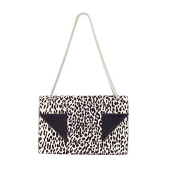 Betty Bag Leopard Print Pony Hair Medium