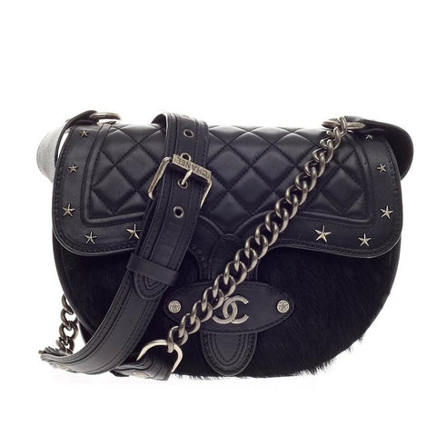 6cb40b6367ff Buy Chanel Dallas Studded Saddle Bag Quilted Calfskin and 110507 – Rebag