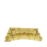 Gucci Horsebit Chain Strap Clutch Crocodile