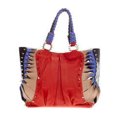 Christian Louboutin Spike Studded Shopper Leather and Patent