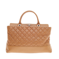 Chanel Be CC Tote Aged Quilted Calfskin Medium