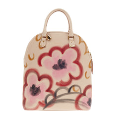 Burberry Bloomsbury Satchel Hand-Painted Floral Leather Medium