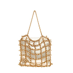 Chanel Chained Evening Bag Satin