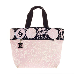Chanel Beach Tote Terry Cloth and Canvas Small