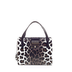 Marc Jacobs Carnaby Tote Leopard Print Leather