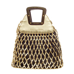 Dolce & Gabbana Hand-Woven Hobo Canvas and Leather