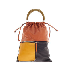 Marni Fold Handle Bag Color Block Leather