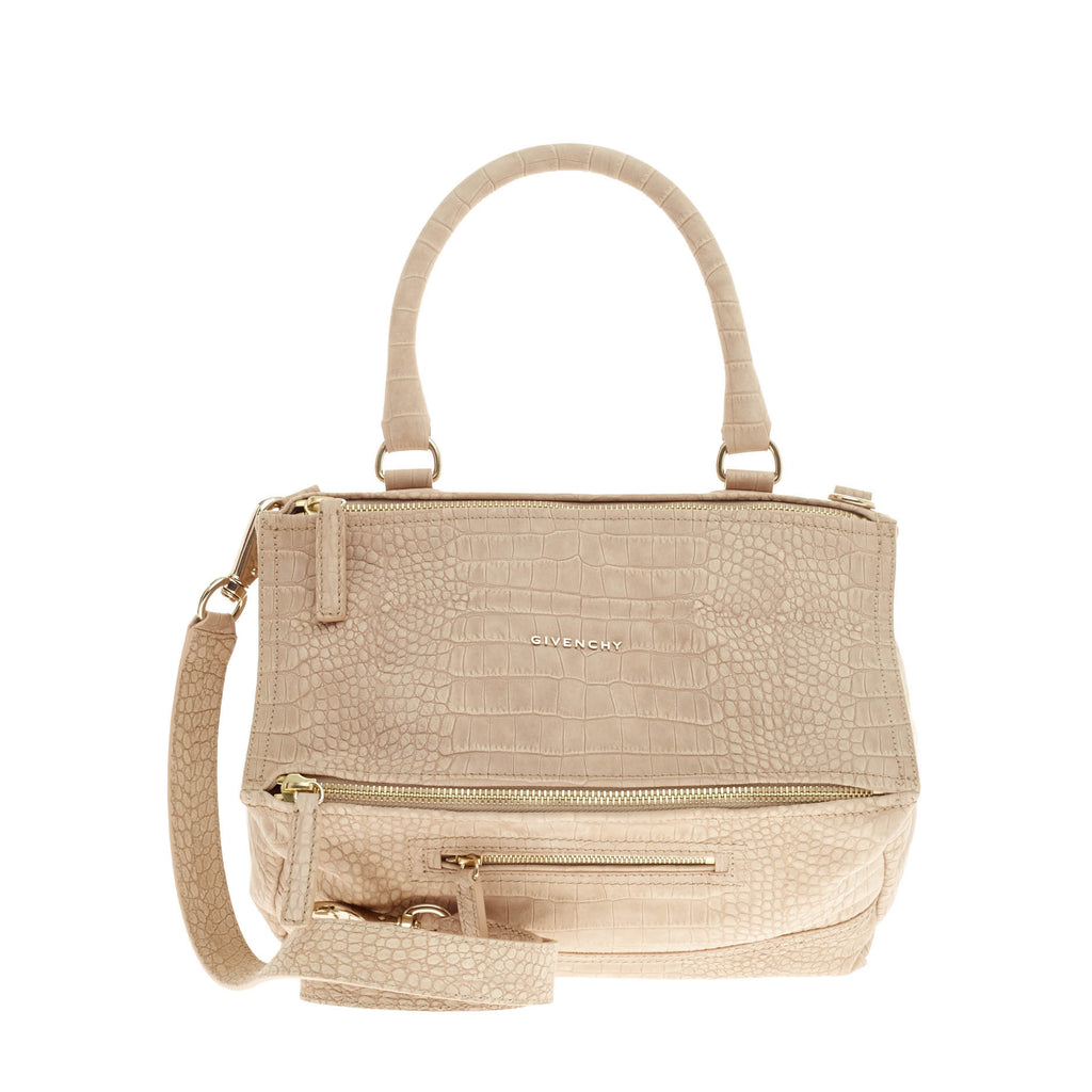 66f6c9a2b93 Buy Givenchy Pandora Bag Embossed Crocodile Medium Beige 124502 – Rebag