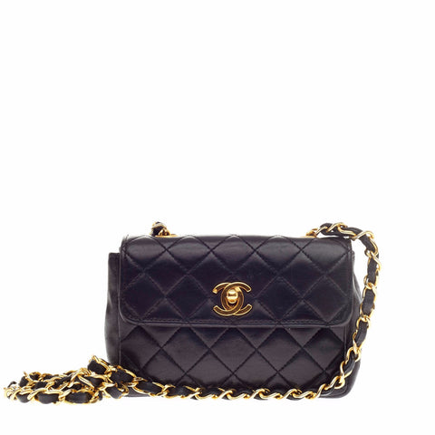 2952d700e2c49 Buy Chanel Vintage Classic Flap Bag Quilted Leather Extra 126211 – Rebag