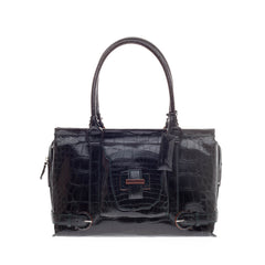 Salvatore Ferragamo Buckle Handle Bag Alligator